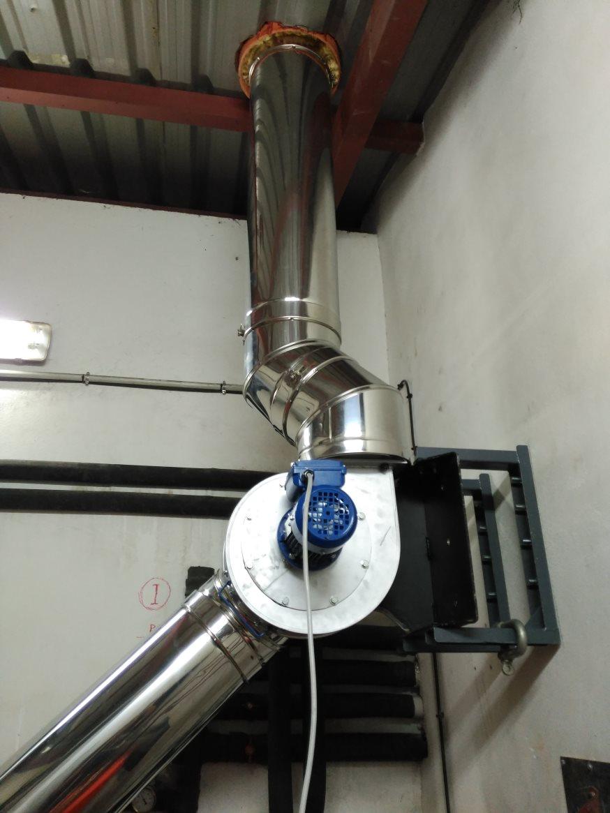 Turbina de extracción de gases para caldera de biomasa de 100kw