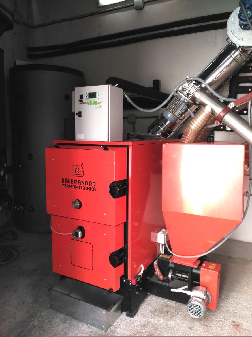 Caldera de biomasa 100kw